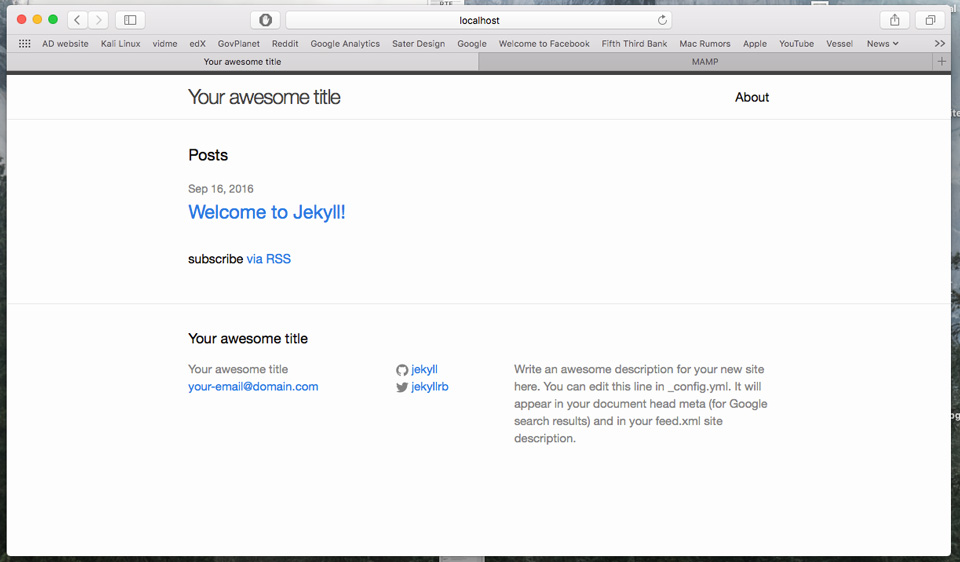 Migrating from WordPress - Jekyll default website