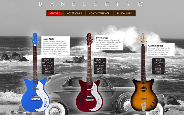 The Danelectro guitar offers real choice.